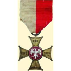 POLAND, MEDAL, WIELKOPOLSKI UPRISING CROSS FOR VALOR