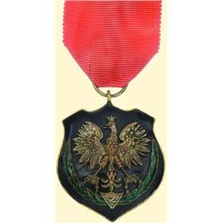 POLAND, MEDAL, ASSOCIATION OF INSURGENTS AND SOLDIERS - I.TYPE (...FOR MERITORIOUS INSURGENTS, 1927)