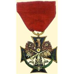 POLAND, MEDAL, ASSOCIATION OF INSURGENTS AND SOLDIERS - III.TYPE (...FOR ARMED INSURGENTS 1927)