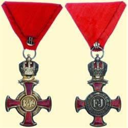 MEDALS AUSTRIA                    SILVER CROSS OF