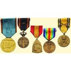 MEDALS BELGIUM                   WORLD WAR I AND