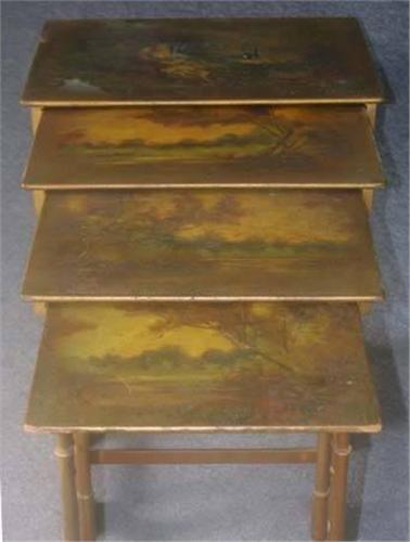 ... Image 2 : PAINE FURNITURE COMPANY PAINTED GROUP Of Four Ne
