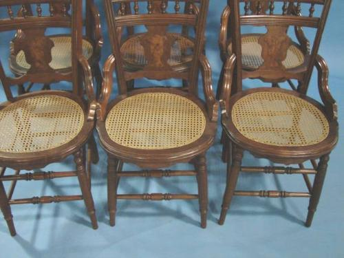 ... Image 3 : SET OF 6 VICTORIAN WALNUT CANE BOTTOM CHAIRS ... - SET OF 6 VICTORIAN WALNUT CANE BOTTOM CHAIRS