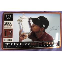 TIGER WOODS COLLECTOR SERIES COMMEMORATIVE GOLF BALLS (2000 NIKE) *TIN CONTAINS 9 TIGER WOODS GOLF B