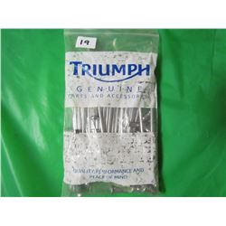 LOT OF TRIUMPH SPOKES (NOS) *5 INCH AND 6 INCH BOTH SPOKE AND NUTS*