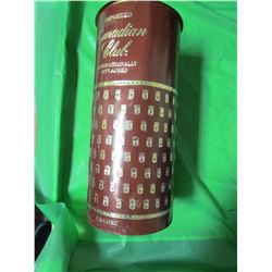 """CANADIAN CLUB TIN FULL OF ASSORTED CANDLES (13"""" TALL X 5.75"""" ACROSS)"""