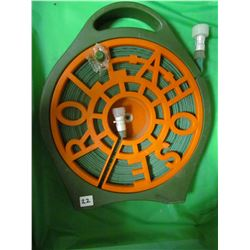 GARDEN HOSE REEL WITH COLAPSABLE HOSE (NOS) *ROLL A HOSE-INVENTION CHANNEL* (CHINA)