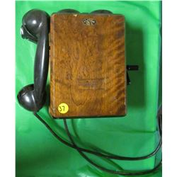 NORTHERN ELECTRIC CRANK TYPE TELEPHONE (ANTIQUE-VERY HEAVY) *N717 AH*