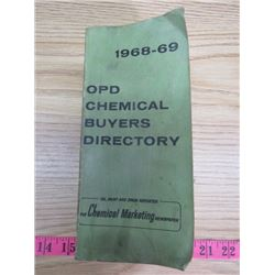 OPD CHEMICAL BUYERS DIRECTORY BOOK (1968-69)