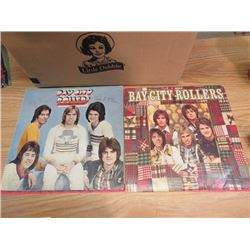 LOT OF POP RECORDS (6 BAY CITY ROLLERS, 1 HANK WILLIAMS, BUDDY HOLLY STORY)