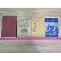 LOT OF OLD BOOKLETS INCLUDING WATCH REPAIR & A COIN CATALOGUE