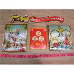 LOT OF ASSORTED FOOD LABELS