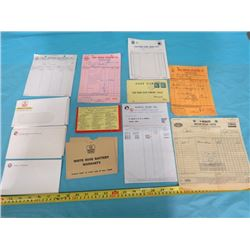 LOT OF OIL COMPANY RECEIPTS