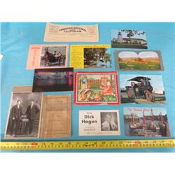 1888 KATECHISMUS BOOK AND POSTCARDS