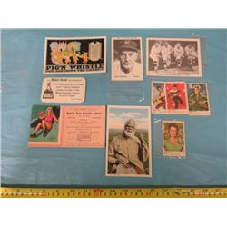 LOT OF SPORTS CARDS & BLOTTERS