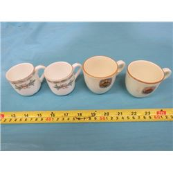HOTEL VANCOUVER & CPR DEMITASSE CUPS