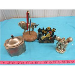 LOT OF ASSORTED FIGURINES (JAR IS HUDSON BAY COMPANY CELEBRATING 325 YEARS)