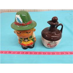 SMALL COFFEE LIQUEUR JUG & GIRL PIGGY BANK (SPECIALLY DESIGNED BY KGG)