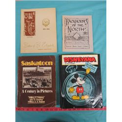 LOT OF BOOKS (BACKHOUSES OF THE NORTH, SASKATOON A CENTURY IN PICTURES, ETC.)