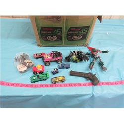 LOT OF ASSORTED TOYS AND CARS