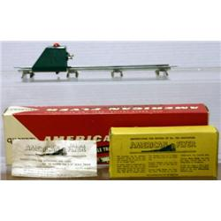 AMERICAN FLYER S GAUGE LIGHTED BUMPER W/ TRACK, A