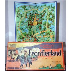 DISNEY PARKER BROTHERS FRONTIER LAND BOARD GAME.