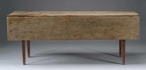 Ordinaire Image 1 : LARGE DROP LEAF HARVEST TABLE WITH SCRUB TOP
