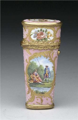 CHOICE 18TH CENTURY ENAMEL ETUI