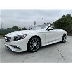 2017 MERCEDES BENZ AMG S65 CABRIOLET CONVERTIBLE