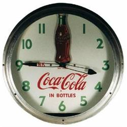 Coca-Cola rare clock neon rocking bottle antique