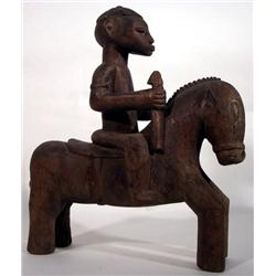A SUPERB SENUFO EQUESTRIAN SCULPTURE,c.1940s, of