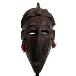 A FINE BAMANA CEREMONIAL MASK,c.1940s of wood, th