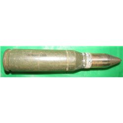 BRADLEY FIGHTING VEHICLE SHELL CASING WITH DISPLAY PROJECTILE (25MM) *MILITARY COLLECTABLE*