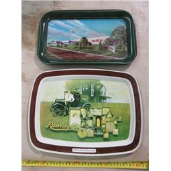 LOT OF 2 COKE TRAYS (CALGARY PLANT OPENING 1979 & FRIEND OF THE FAMILY SINCE 1889)