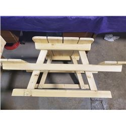"""CHILDS PICNIC TABLE (41.5X32X19.25"""")"""
