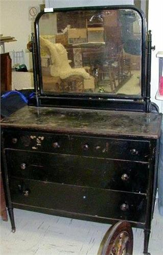 Affordable Rare Antique Metal Dresser From Loading Zoom