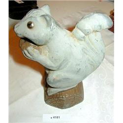 Vintage Cast Iron Squirrel Bank