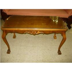 Mahogany Gibbard Glass Top Coffee Table