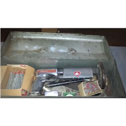 Box with Ramset Fasteners and Power Charges & tools