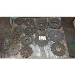 "Lot of Milling Cutter from 5""3/4 to 8"""