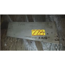 """Stainless Plate 19""""3/4 x 6""""1/2 (10"""") x 1/4"""""""