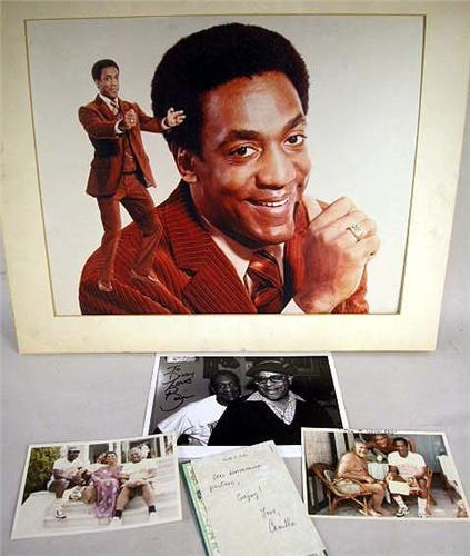 a group of bill cosby related memorabilia comprising a handwritten