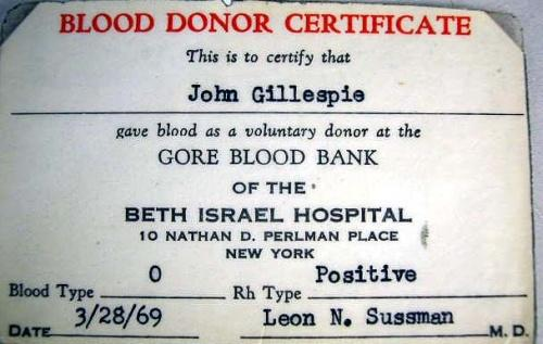 image 4 a blood donor certificate to john gillespie gore