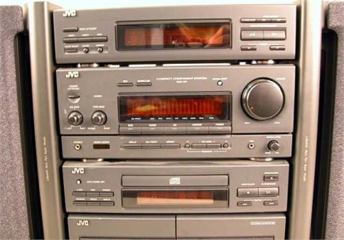 A JVC COMPACT HOME STEREO Model HXPRO, dual cassette, CD ...