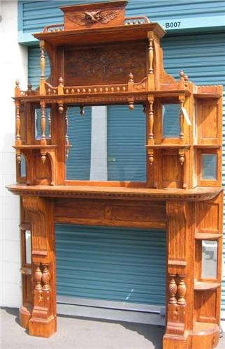 Victorian Fireplace Mantel - American Auction Co.