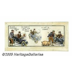 Norman Pett - Hand Colored Jane Daily Comic Strip Origi