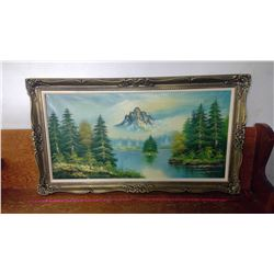 "SCENERY PICTURE AND FRAME (55"" X 31"")"