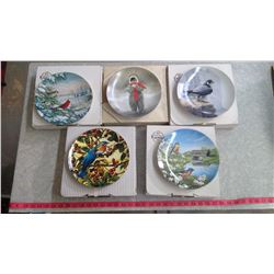LOT OF FIVE DECORATIVE PLATES