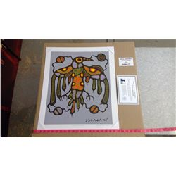 "SACRED THUNDERBIRD BY NORVAL MORRISSEAU (20"" X 24"" UNFRAMED REPRODUCTION)"