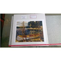 "THE CANOE BY TOM THOMSON (20"" X 24"" UNFRAMED REPRODUCTION)"